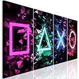 murando - Bilder für Gamers Spielkonsole 160x60 cm Vlies Leinwandbild 4 Teilig Kunstdruck modern Wandbilder XXL Wanddekoration Design Wand Bild schwarz bunt i-A-0164-b-i