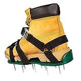LIXILI Rasenbelüfter Schuhe, Faltbare Ergonomie Rasenbelüfter-Schikanierer Freie Größe Rasenbelüfter Spike-Schuhe für Rasenärztüre oder Garten