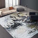 Einfacher Teppich Im Neuen Chinesischen Stil, Verdickt, Zweischichtige Büro-Fußmatten, rutschfeste Und Haltbare Fußmatten, Eingangsteppiche, Maschinenwaschbare Haustier-Teppiche