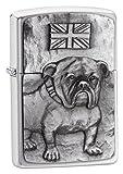 Zippo Sturmfeuerzeug | Metall Langlebig Zippo Feuerzeug | Best mit Zippo Feuerzeugflüssigkeit | Taschenfeuerzeug Feuerstarter | Dog Collection Bulldog Emblem