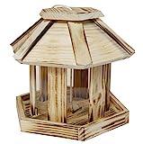 Windhager Vogelfuttersilo Wilder Kaiser, Vogelfuttersilo, Vogelhaus, Futterspender für Vögel, mit Glasfenster, Vogelhäuschen aus Massivholz, inklusive Aufhängeschnur, 06934