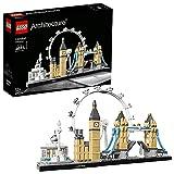 LEGO 21034 Architecture London Bauset, Skyline-Kollektion, London Eye, Big Ben, Tower Bridge, Geschenkidee für Kinder und Erwachsene, Bauset