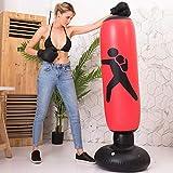 Boxsack auf Fuß, aufblasbar, Boxsack mit Luftpumpe für Kinder, Erwachsene, Karate, Fitness, MMA