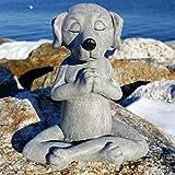 Meditationsstatue Katze Statue Hunde-Statue Zen Yoga Hase Deko Figur Harz Meditation Yoga Decor Feng Shui Ornament Skulptur Sammlung Handwerk (Hund)