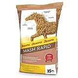 JOSERA Mash Rapid (1 x 15 kg) | Premium Pferdefutter Mash | Pferdefutter mit Leinsamen | hochwertige Mineralisierung |bester Fellglanz und stabile Hufe | 1er Pack