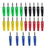 KEESIN 4mm Banane Stecker Gold Überzogen Sortierte Farbe Audio Lautsprecherkabel Kabel Stecker (Tippe B)