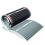 floorino – Infrarot Elektrische Fußbodenheizung für Laminat und Parkett, 1,5m x 0,5m (0,75m²), 80 Watt, Heizfolie Flächenheizung auch als Wandheizung / Deckenheizung z.B. im Wohnzimmer, Wohnwagen oder Wintergarten geeignet, mit Ansschluss-Set