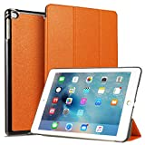 iPad 9.7 2018 2017 / iPad Air 2 / iPad Air Hülle – iPad 6th / 5th Gen Ultra Slim Lightweight Trifold Stand Case with Auto Sleep / Wake Smart Cover for Apple iPad 9.7 Zoll (Orange-3)