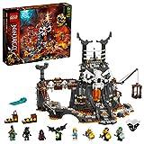 LEGO 71722 NINJAGO Verlies des Totenkopfmagiers, 2-in-1 Bauset und Brettspiel mit 8 Minifiguren