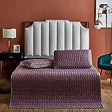 Sommermatte, dreiteilige Bettdecke aus Latex-Eisseide, waschbare Faltklimaanlage, weiche Matte, Einzel-Doppelmatratze,Bean Paste,150x200cm