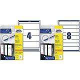 Avery Zweckform L6061-25 Ordnerrücken Etiketten, 30 Blatt, weiß & L6060-10 Ordnerrücken Etiketten (A4, 80 Rückenschilder, schmal/kurz, selbstklebend, blickdicht, 34 x 192 mm) 10 Blatt, weiß