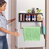 Küchenregal Magnetischer Kühlschrank Aufbewahrungsorganisator, Kühlschrankhalter Starker Magnet Rostfreie Gewürzdosen, ANZUG FÜR PAPIERTUCHGRÖSSE, Flaschenwein, Waschküche Badezimmer 2,5 x 10,2 x 3,1