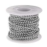 Supvox metallperlenkette Edelstahl kugelkette für DIY Handwerk Dekoration 2,4mm Durchmesser 1 Rolle 10 Meter läng