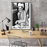weihuobu Ernest Tubb - Ende der 1970er Jahre Cachet Records Künstler Werbewand Kunst Leinwand Malerei Plakate und Drucke Kunstwerk -50x70cm Ohne Rahmen