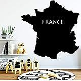 Fun France Map Umwelt Tapetenschutz Vinyl Aufkleber Für Kinderzimmer Pvc Wandtattoos 42X42Cm