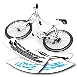 Fahrradaufkleber Fahrrad Aufkleber Streifen Sets   viele Motive   viele Farben
