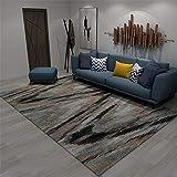 Kunsen Teppich terrasse Der graue Teppich im Wohnzimmer ist haarlos, glatt und fleckenbeständig wohnzimmertisch rund waschbare Teppich 80X160CM 2ft 7.5' X5ft 3'