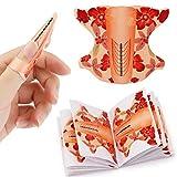 MWOOT 100 Stück Nagelschablonen, Nagelkunst Nagelform Schablone, Selbstklebend Verlängerungsfolie, Nagelverlängerung Modellierschablonen - Nailart Nail Form Guide Sticker