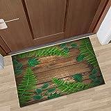 OPLJ Weihnachts-Fußmatte für den Innenbereich Begrüßungs-Eingangsmatten Wasserabsorbierende rutschfeste Bodenmatte für die Küche Wohnzimmer Waschbar A3 40x60