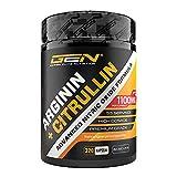 L-Arginin + L-Citrullin - 320 Kapseln - 1100 mg pro Kapsel - Citrullin + Arginin Base im 1:1 Verhältnis - Premium Aminosäuren - Laborgeprüfte Qualität - German Elite Nutrition