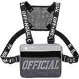 Sling Bag Schultertasche Brusttasche Hip Hop Rucksack für Herren Damen Outdoor Sport Laufen Camping Wandern Fitness Reisen, grau (Grau) - Backpack-01