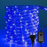 VINGO 20m 480 LEDs Aussen Lichtschlauch,LED Lichterschlauch mit 8 Modi und Timer,IP44 Wasserdicht Lichterschlauch,für Garten Weihnachten Party Hochzeit Dekoration Innen- und Außenbereich (blau)