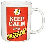 "Big Bang Theory The Keep Calm and Bazinga"", Porzellan, 320ml – 0122071 Kaffeetasse, weiß, 12 x 7.5 x 9.3 cm"