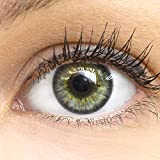 Graue Farbige Kontaktlinsen Fresh Gray Grau Sehr Stark Deckende SILIKON COMFORT NEUHEIT von GLAMLENS + Behälter - 1 Paar (2 Stück) - DIA 14.50 - ohne Stärke 0.00 Dioptrien