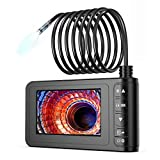 Industrie Endoskop, SKYBASIC 1080P HD Digitale Boroskop Kamera Wasserdicht 4,3 Zoll LCD Bildschirm Schlangenkamera Video Inspektionskamera, mit 6 LED Leuchten, Halbsteifem Kabel, 32 GB TF (16.5 FT)