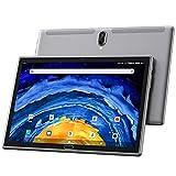 Tablet 10 Zoll Android 10.0 4G LTE Tablett PCmit 2 SIM Card Slot 4GB RAM 64GB ROM 128GB erweiterbar Octa Core 1.6GHz 1280x800 IPS 1080P FHD SD Typ-C 6000mAh 13 MP Kamera Bluetooth WiFi GPS OTG, grau