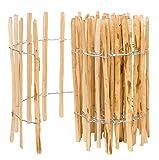 BOGATECO Staketenzaun Haselnuss Kastanie   Holz-Zaun 50 cm Hoch & 500 cm Lang   Lattennabstand 7-8 cm   Perfekt als Gartenzaun
