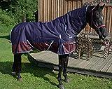 AMKA Outdoordecke 1200D 200g Füllung dunkelblau/weinrot mit Halsteil