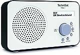 TechniSat VIOLA 2 tragbares DAB Radio (DAB+, UKW, Lautsprecher, Kopfhöreranschluss, zweizeiligem Display, Tastensteuerung, klein, 1 Watt RMS) weiß/schw