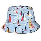 MayBlosom Fischer-Sonnenhut, Hüte und Möwen, modisch, faltbar, tragbar, Unisex, für den Außenbereich, UV-Schutz