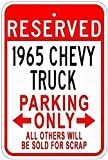 2158 SLALL 1965 65 Chevy Truck Blechschild Parkschild Retro Straßenschild Haushalt Metall Blechschild Bar Cafe Auto Motorrad Garage Dekoration Zubehör 30,5 x 20,3 cm