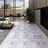 Neuer Typ-Materialien,Breites Anwendungsspektrum,PVC Laminat Dielen 5,26 m² 2 mm,Zementgrau, (Mehrere Stile sind verfügbar)