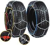 Lescars Anfahrhilfe: Schneeketten Größe M für Reifen 205/55 R16 u.v.m. (Anfahrhilfe Schnee)