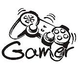 Gamer Controller Wand Aufkleber, Game Boy Wanddeko Aufkleber, Wand-Dekor Gamer Dekorationen für Zuhause, Spielzimmer Schlafzimmer Jungenzimmer Tapete 16.4''L x 11.7''H