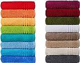 Naturawalk Handtücher Serie Milano Bio-Baumwolle in Luxusqualität, in 7 Größen und 16 Trendfarben - Grösse Handtuch 50x100 cm, Farbe Orange 316