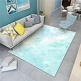 Wohnzimmerteppich Outdoortepiche Hellblauer Teppich-Kinderzimmer-Teppich-Kristall-Verklage-Gewebe glatt und komfortabel Kinderteppich Waschbar 180x280cm