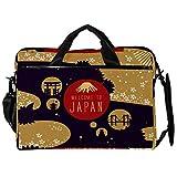 TIZORAX Laptop Messenger Schultertasche Japan Poster Card Computer Sleeve Notebook-Tragetasche 15-15,4 Zoll Handtasche