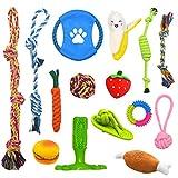 Welpenspielzeug 15pcs Hundespielzeug Kauspielzeug Interaktives Spielzeug Set Intelligenz Hundeseile Spielset Seil aus Baumwolle Zahnreinigung für große mittelere kleine Hunde und Welpe