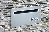 BAILEY BOXES - Briefkasten für Ziegel/Zaun – Edelstahl – Schlüssel abschließbar – Melton SS