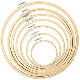 Pllieay 7 Stück Stickrahmen in 7 Größen, 10,2 cm bis 30,5 cm, Bambus-Kreis, Kreuzstich, Ringe für Bastelarbeiten, Nähen und Ornamente