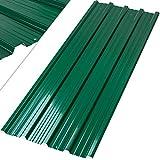 KESSER® - 12 x Profilblech Trapezblech 129cm x 45cm = 7 m² -Dachblech für Gerätehaus, Dachplatten Verzinkter Stahl 0,25mm, Grün