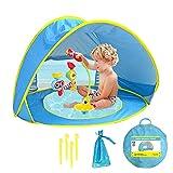 Baby Strandmuschel Strandzelt,Pop-up UV-Schutz-Sonnenschutzzelt,Shade Shelter für Kleinkinder