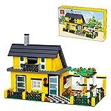 XIAN Modulares Stadthaus Modellbausteine, 449 Klemmbausteine Wüstenvilla Architekturmodell Häuser Modellbau Kompatibel mit Lego Creator