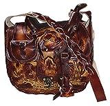 Tasche Handtasche Schultertasche Westerntasche Sattel 100% Leder