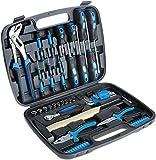Micoo Universal Werkzeugkoffer 57 teilig, mit Werkzeug gefüllt | für Haushalt, Garage & Werkstatt | mit H