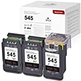 3 BeneToner 545 PG-545XL kompatibler Tintenpatronenersatz für Canon 545 PG-545XL für PIXMA MX495 TS3150 MG2450 MG2550 MG2550S MG2950 MG3050 TS205 TS305 iP2850 Drucker(3xSchwarz)